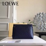 LOEWE 025-04 專櫃時尚新款T-pouch系列原版小牛皮紡織內襯個性手包