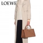 LOEWE 015 專櫃時尚新款頂級進口原版Napa牛皮Barcelona系列限量版大三角包