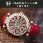 Franck Muller-28-9 高貴奢華Double Mystery土豪金紅色滿天星瑞士2836自動機械腕錶