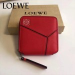 LOEWE 017-04 專櫃時尚新款puzzle系列原版牛皮裏外全皮爆款錢包零錢包
