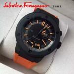Ferragamo-003 型男必備旗艦系列兩地時間藍寶石鏡面原裝瑞士機芯腕錶