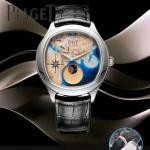 Piaget-025-4 商務男士綺幻之旅Emperador Coussin XL歐亞版圖瑞士石英腕錶