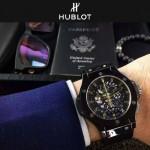 HUBLOT-040-5 潮流休閒男士土豪金硅膠錶帶款進口石英腕錶