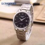 LONGINES-0102-7 全新復古閃亮銀三針設計原裝全自動機械腕錶