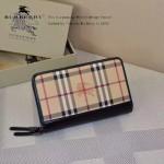 Lvaaa.tw-0205 專櫃時尚新款原版格子面料進口納帕牛皮雙拉鏈錢包