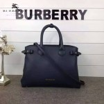 Burberry-0229-02 潮流時尚新款原單手掌紋進口牛皮配布手提斜背包