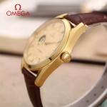 OMEGA-178-7 商務男士鏤空設計土豪金配金底316精鋼錶殼全自動機械腕錶