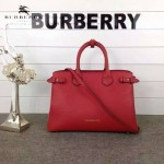 Burberry-0229-03 潮流時尚新款原單手掌紋進口牛皮配布手提斜背包
