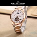 JAEGER-050 時尚男士大師系列白色間金系列三針設計全自動機械腕錶