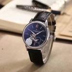 VC-0301-4 簡約男士閃亮銀黑底兩針半飛輪設計全自動機械腕錶