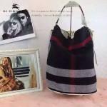 Burberry-0223-05 潮流時尚款來自星星的妳千頌依同款可拆式皮質斜背帶水桶包
