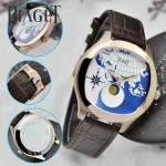 Piaget-025-2 商務男士綺幻之旅Emperador Coussin XL歐亞版圖瑞士石英腕錶