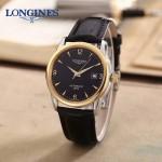 LONGINES-0102-2 全新復古間金系列三針設計原裝全自動機械腕錶