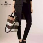 Burberry-0223-02 潮流時尚款來自星星的妳千頌依同款可拆式皮質斜背帶水桶包