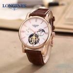 LONGINES-0101-13 商務男士玫瑰金多功能飛輪設計原裝全自動機械腕錶