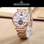 JAEGER-050-2 時尚男士大師系列白色間金系列三針設計全自動機械腕錶