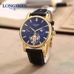 LONGINES-0101-15 商務男士土豪金多功能飛輪設計原裝全自動機械腕錶