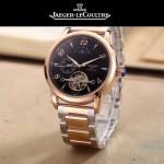 JAEGER-050-3 時尚男士大師系列黑色間金系列三針設計全自動機械腕錶