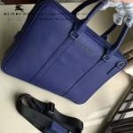BURBERRY-0233-02 專櫃時尚新款進口牛皮掌紋全皮款男士手提斜背包