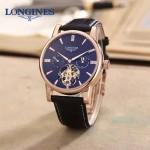 LONGINES-0101-16 商務男士玫瑰金多功能飛輪設計原裝全自動機械腕錶
