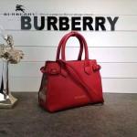 Burberry-0230 潮流時尚新款原單手掌紋進口牛皮配布小號手提斜背包