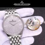 JAEGER-051-2 奢華男士閃亮銀滿天星藍寶石鏡面Cal.899自動機械腕錶