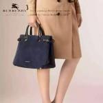 Burberry-0216 專櫃時尚新款原單磨砂鹿皮配小牛皮格紋內襯手提斜背包