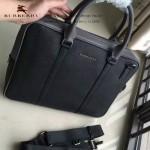 BURBERRY-0233-06 專櫃時尚新款進口牛皮掌紋全皮款男士手提斜背包