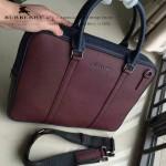BURBERRY-0233-05 專櫃時尚新款進口牛皮掌紋全皮款男士手提斜背包