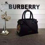 Burberry-0230-01 潮流時尚新款原單手掌紋進口牛皮配布小號手提斜背包