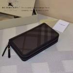 Lvaaa.tw-0205-01 專櫃時尚新款原版格子面料進口納帕牛皮雙拉鏈錢包
