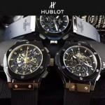 HUBLOT-040-3 潮流休閒男士藍色硅膠錶帶款進口石英腕錶