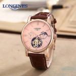 LONGINES-0101 商務男士玫瑰金多功能飛輪設計原裝全自動機械腕錶