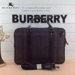 BURBERRY-0234-01 專櫃走秀四季百搭款意大利進口皮配PVC男士手提單肩包