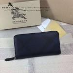 Lvaaa.tw-0222 專櫃時尚新款進口PVC配牛皮藍色拉鏈款錢包