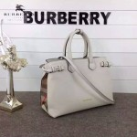Burberry-0229-04 潮流時尚新款原單手掌紋進口牛皮配布手提斜背包