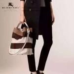 Burberry-0223-01 潮流時尚款來自星星的妳千頌依同款可拆式皮質斜背帶水桶包