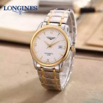 LONGINES-0102-6 全新復古間金系列三針設計原裝全自動機械腕錶