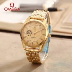 OMEGA-178-15 商務男士鏤空設計土豪金配金底316精鋼錶殼全自動機械腕錶