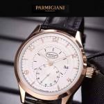 PARMIGIANI-04-8 全新男士土豪金配白底316精鋼錶殼進口石英腕錶