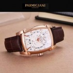 PARMIGIANI-01-4 商務男士兩針半系列土豪金配白底進口石英腕錶