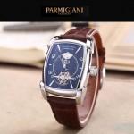 PARMIGIANI-02-2 潮流男士TOURBILLON系列閃亮銀配黑底飛輪設計自動機械腕錶