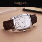 PARMIGIANI-01-3 商務男士兩針半系列閃亮銀配白底進口石英腕錶
