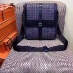 BURBERRY-0239-01 專櫃時尚新款原版牛皮配PVC裝飾小號斜背包