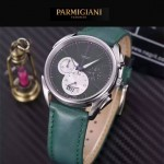 PARMIGIANI-08-8 新款Tonda Metrographe閃亮銀配綠色多功能計時進口石英腕錶