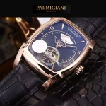PARMIGIANI-05-9 爆款男士土豪金配黑底天工甲版設計8N25自動機械腕錶