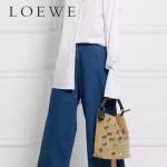 LOEWE 0236 專櫃走秀款T Bucket Bag系列進口原版柔軟鹿皮T形水桶包