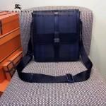 BURBERRY-0239 專櫃時尚新款原版牛皮配PVC裝飾小號斜背包