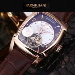 PARMIGIANI-05-6 爆款男士土豪金配黑底天工甲版設計8N25自動機械腕錶