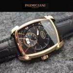 PARMIGIANI-011 商務男士土豪金配黑底316精鋼錶殼全自動機械腕錶